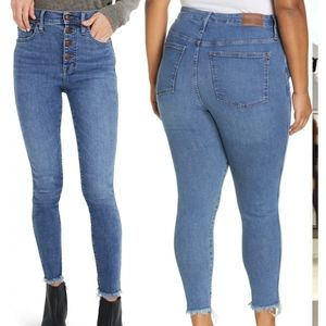 Madewell - 10 inch high rise skinny denim jeans size 24